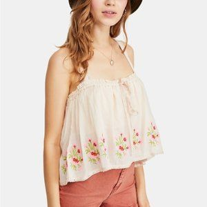 NEW FREE PEOPLE Golden Hour Cotton Lace Tank Top